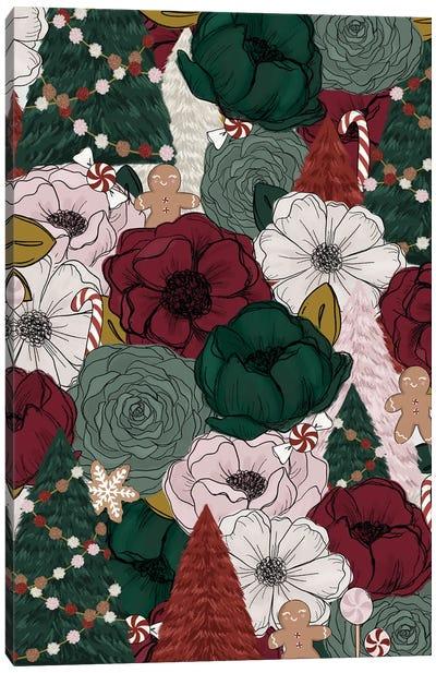 Festive Florals Canvas Art Print