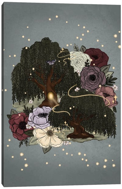 Whimsical Willow Trees Canvas Art Print