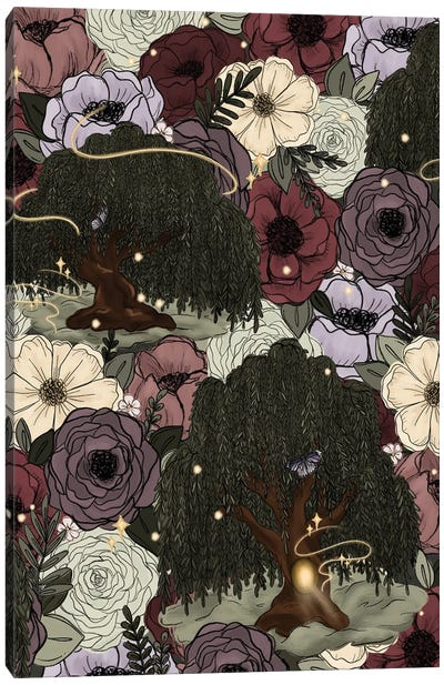 Whimsical Willow Florals Canvas Art Print