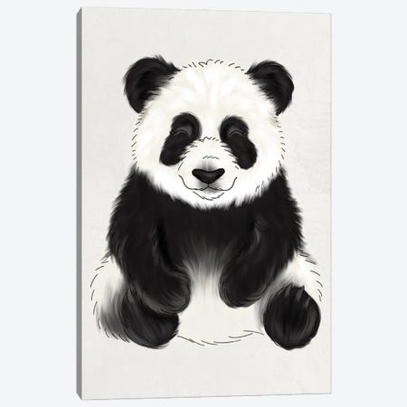 Baby Panda Canvas Print #KBY4} by Katie Bryant Canvas Print