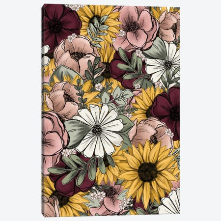 Floral Mix Canvas Print #KBY50} by Katie Bryant Canvas Print