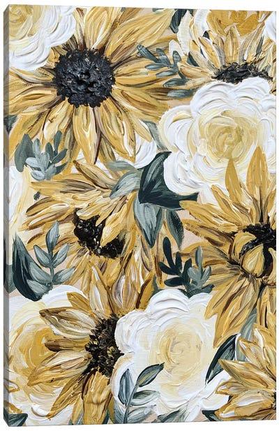 Sunflower Florals Canvas Art Print