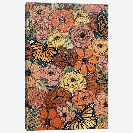 Colorful Butterfly Florals Canvas Print #KBY53} by Katie Bryant Canvas Art Print