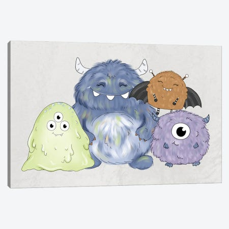 Monster Friends Canvas Print #KBY56} by Katie Bryant Canvas Art