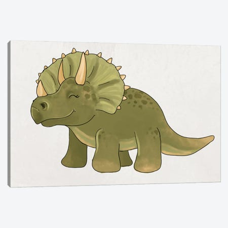 Triceratops Canvas Print #KBY58} by Katie Bryant Canvas Art Print