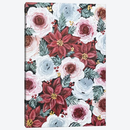 Poinsettia Florals Canvas Print #KBY67} by Katie Bryant Canvas Art Print