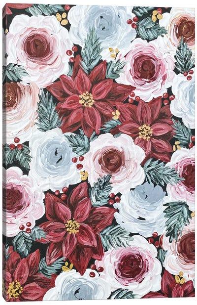 Poinsettia Florals Canvas Art Print