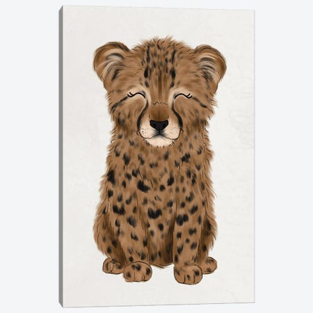 Baby Cheetah Canvas Print #KBY70} by Katie Bryant Canvas Print