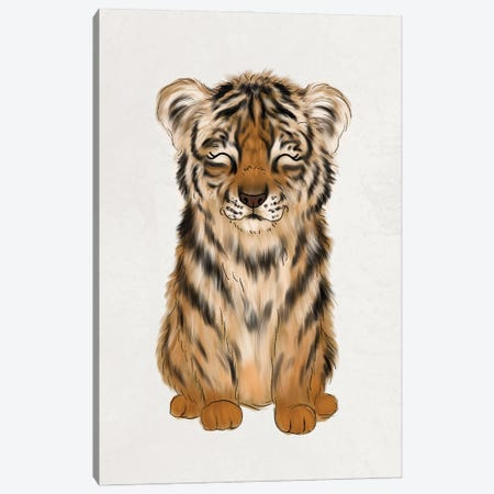 Baby Tiger Canvas Print #KBY72} by Katie Bryant Art Print