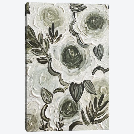 Enchanted Green Florals Canvas Print #KBY81} by Katie Bryant Canvas Artwork