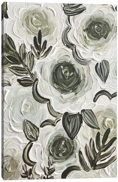 Enchanted Green Florals Canvas Art Print