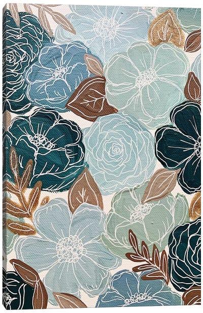 Blue Florals Canvas Art Print