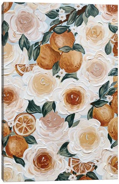 Floral Oranges Canvas Art Print