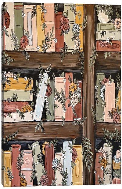 Bookshelf Garden Canvas Art Print