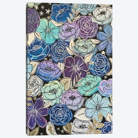 Galaxy Outlined Florals Canvas Print #KBY90} by Katie Bryant Canvas Art Print