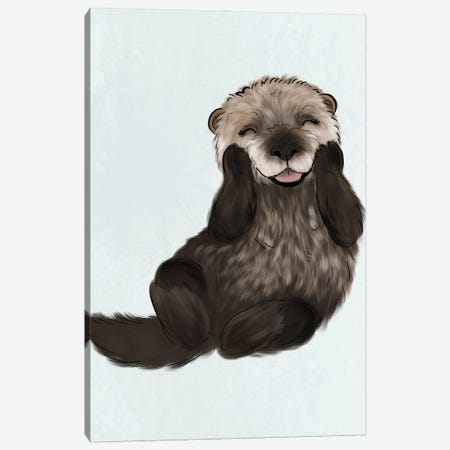 Baby Otter Canvas Print #KBY98} by Katie Bryant Art Print