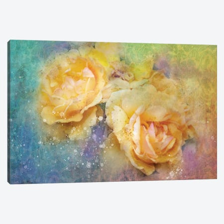 Splashy Yellow Floral Canvas Print #KCF19} by Kevin Clifford Canvas Art Print
