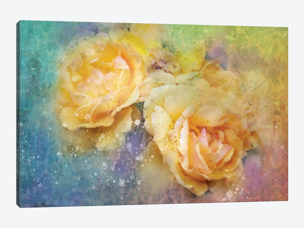 Splashy Yellow Floral by Kevin Clifford 1-piece Canvas Artwork