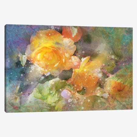 Splashy Yellow Roses Canvas Print #KCF22} by Kevin Clifford Canvas Wall Art