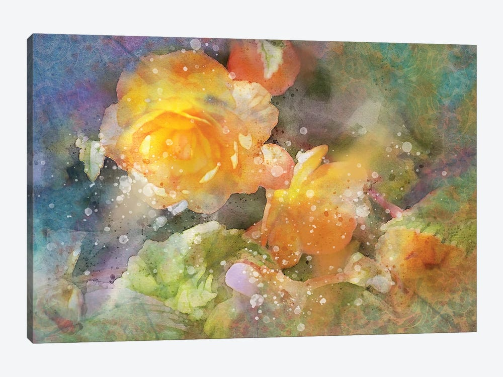 Splashy Yellow Roses by Kevin Clifford 1-piece Canvas Art