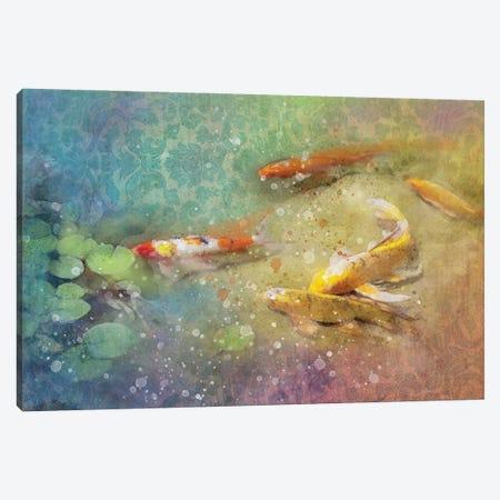 Koi Zen Canvas Print #KCF24} by Kevin Clifford Canvas Art Print