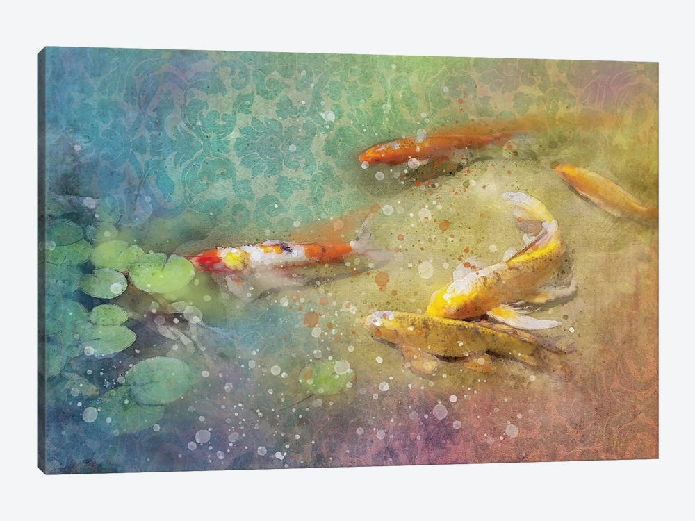 Koi Zen by Kevin Clifford 1-piece Canvas Wall Art