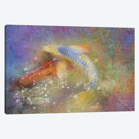 Splashy Koi Pond Canvas Print #KCF30} by Kevin Clifford Canvas Print
