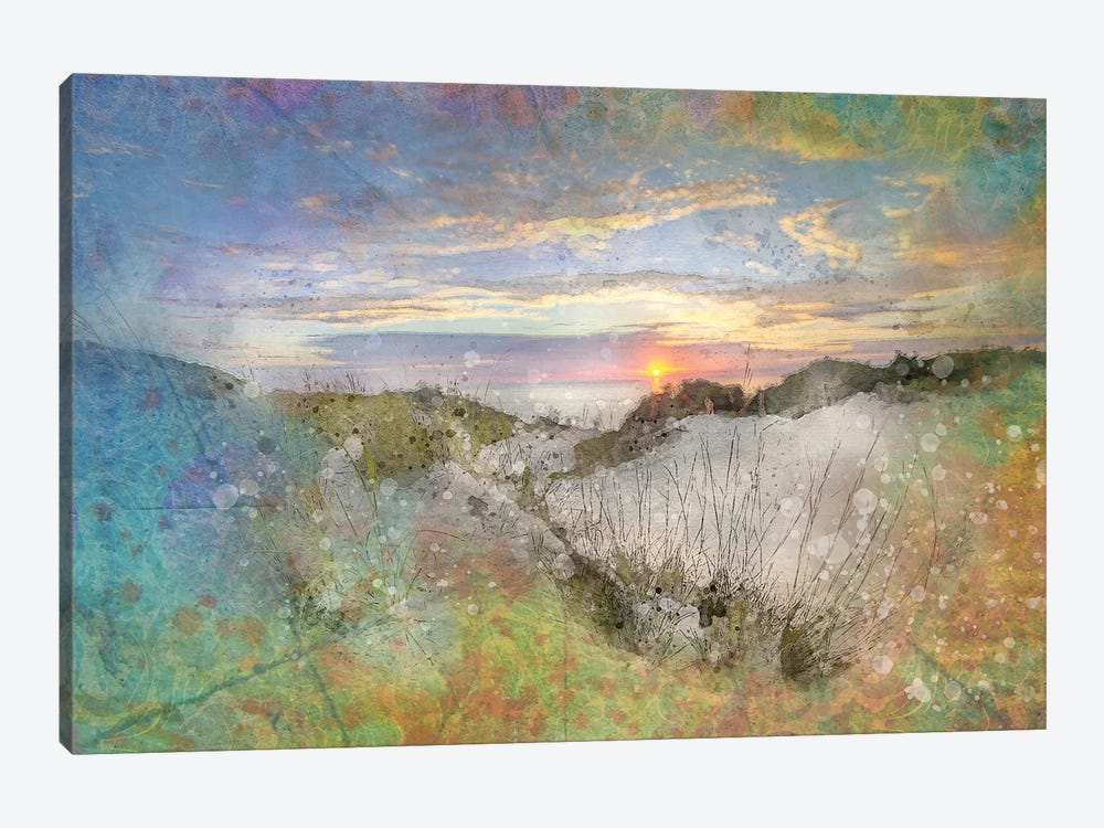 Splashy Sand Dunes 1-piece Art Print