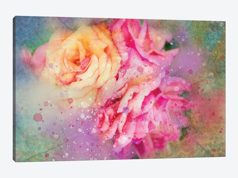 Splashy Colorful Roses by Kevin Clifford 1-piece Canvas Artwork