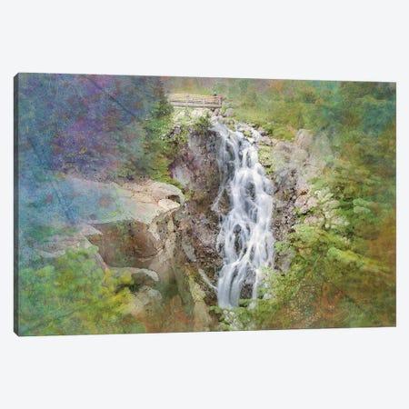 Zen Waterfall Canvas Print #KCF38} by Kevin Clifford Art Print