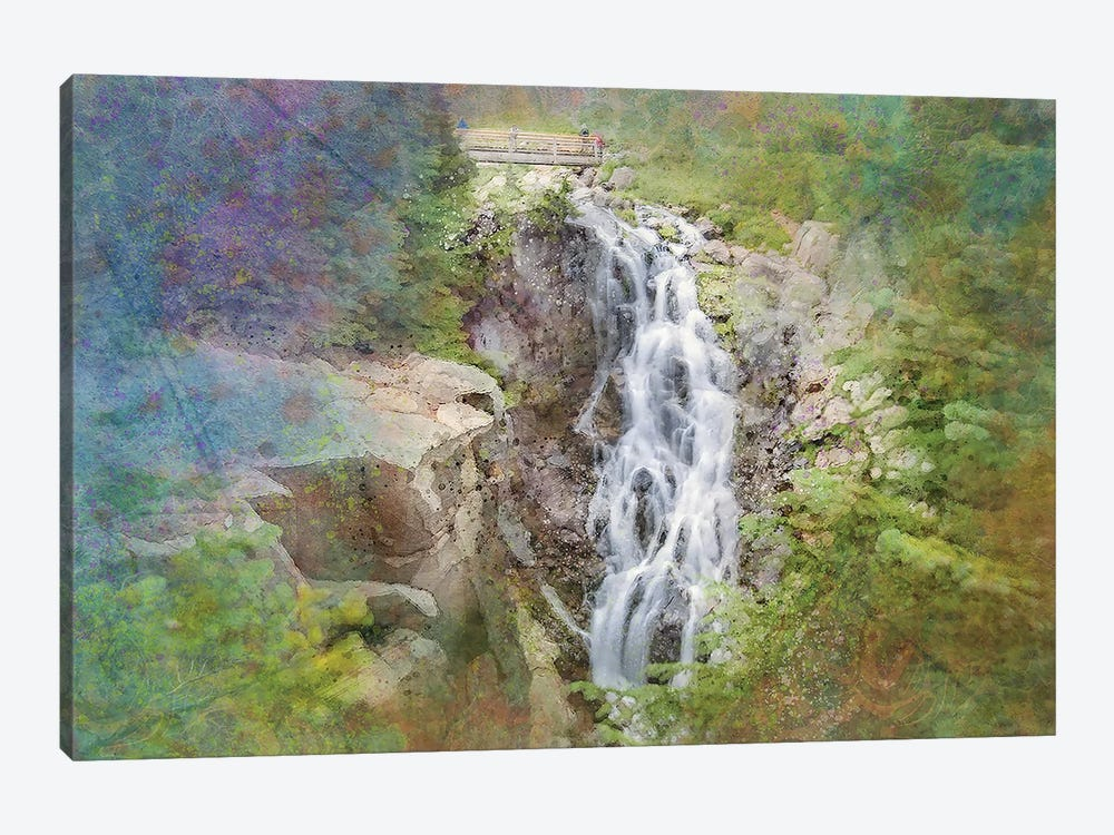 Zen Waterfall by Kevin Clifford 1-piece Canvas Print