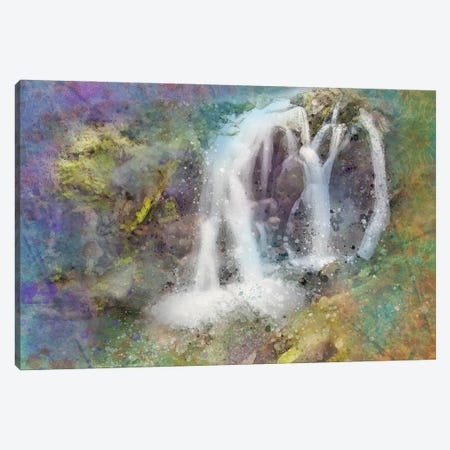 Splashy Waterfallss Canvas Print #KCF41} by Kevin Clifford Canvas Artwork