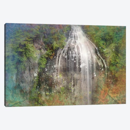 Calming Waterfall Canvas Print #KCF43} by Kevin Clifford Canvas Wall Art