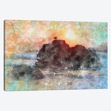 Serine Seagul Canvas Print #KCF44} by Kevin Clifford Art Print