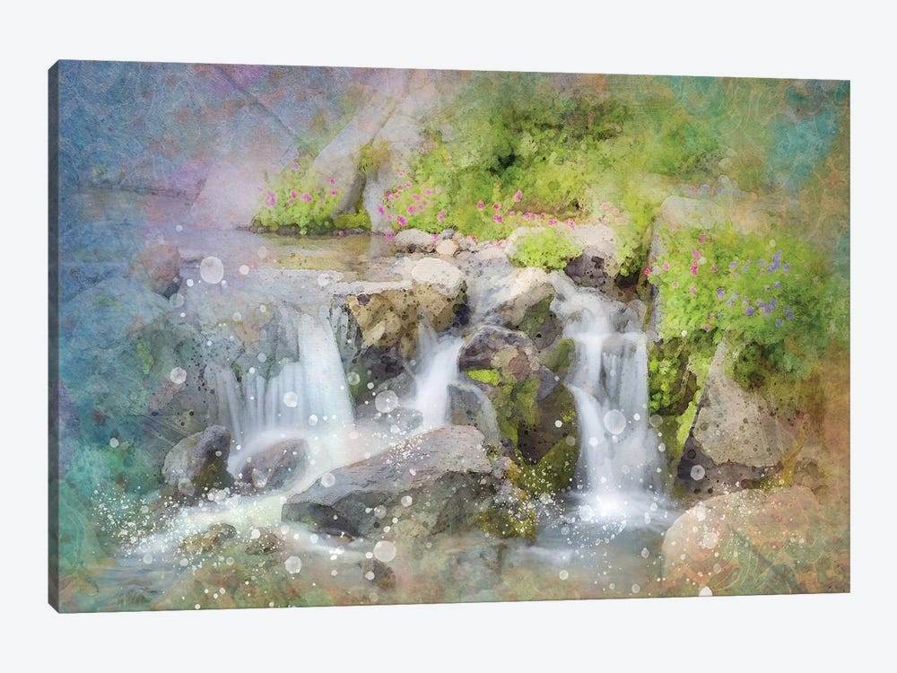 Calming Waterfall II by Kevin Clifford 1-piece Canvas Art