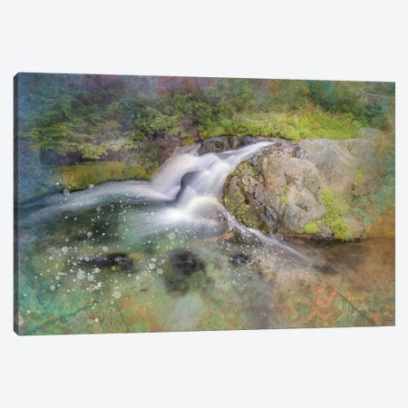 Calming Waterfall III Canvas Print #KCF47} by Kevin Clifford Art Print