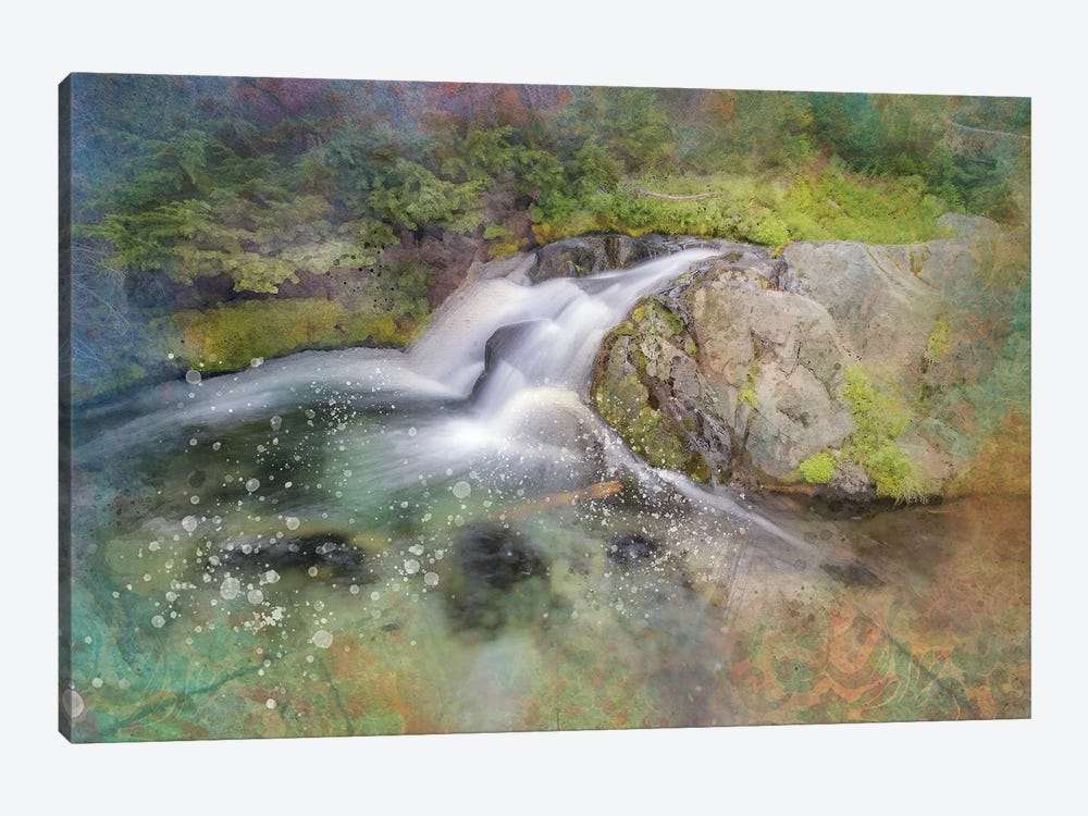 Calming Waterfall III by Kevin Clifford 1-piece Canvas Art Print