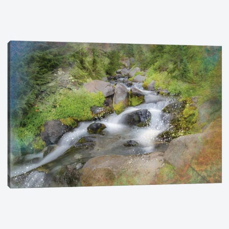Calming Waterfall IV Canvas Print #KCF48} by Kevin Clifford Canvas Artwork