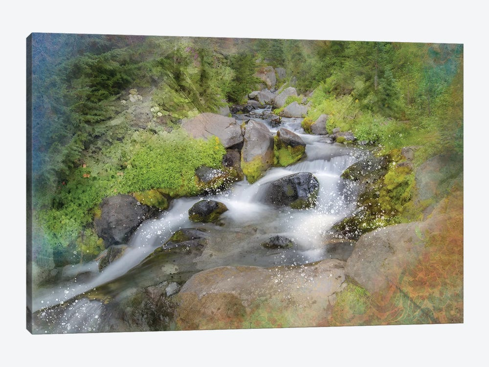 Calming Waterfall IV by Kevin Clifford 1-piece Canvas Artwork
