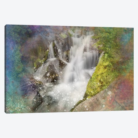 Calming Waterfall V Canvas Print #KCF49} by Kevin Clifford Canvas Artwork