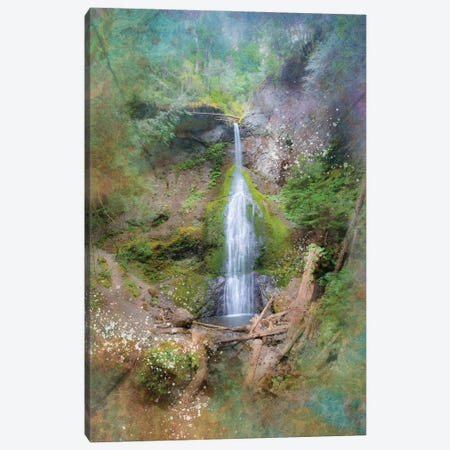 Calming Waterfall VI Canvas Print #KCF51} by Kevin Clifford Canvas Print