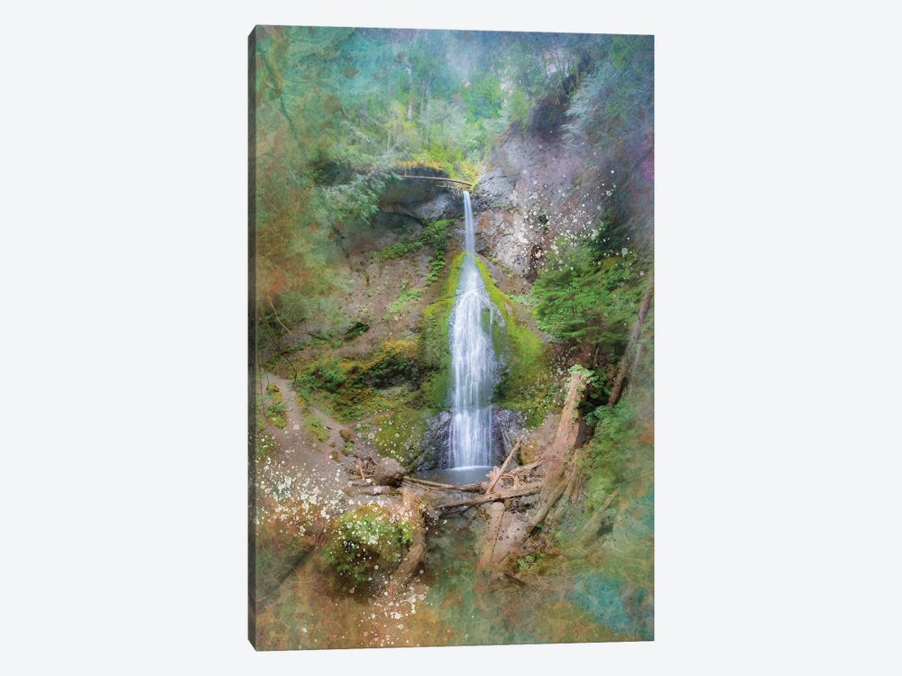 Calming Waterfall VI by Kevin Clifford 1-piece Canvas Art