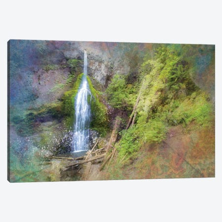 Calming Waterfall VII Canvas Print #KCF52} by Kevin Clifford Canvas Art Print