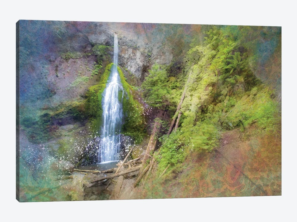 Calming Waterfall VII by Kevin Clifford 1-piece Canvas Art Print