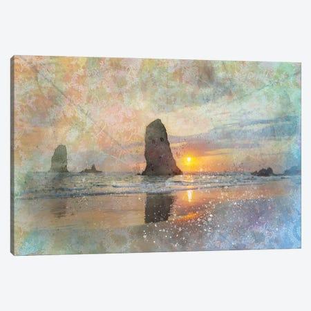 Haystack Rock Canvas Print #KCF53} by Kevin Clifford Canvas Print