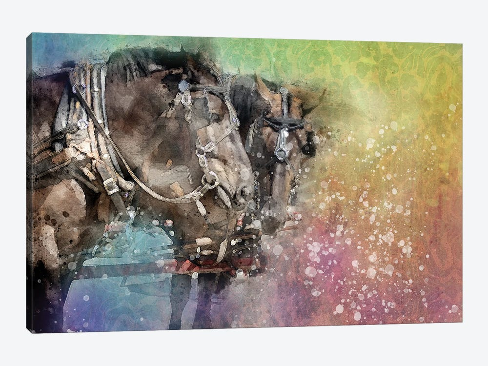 Horse Discussion by Kevin Clifford 1-piece Art Print