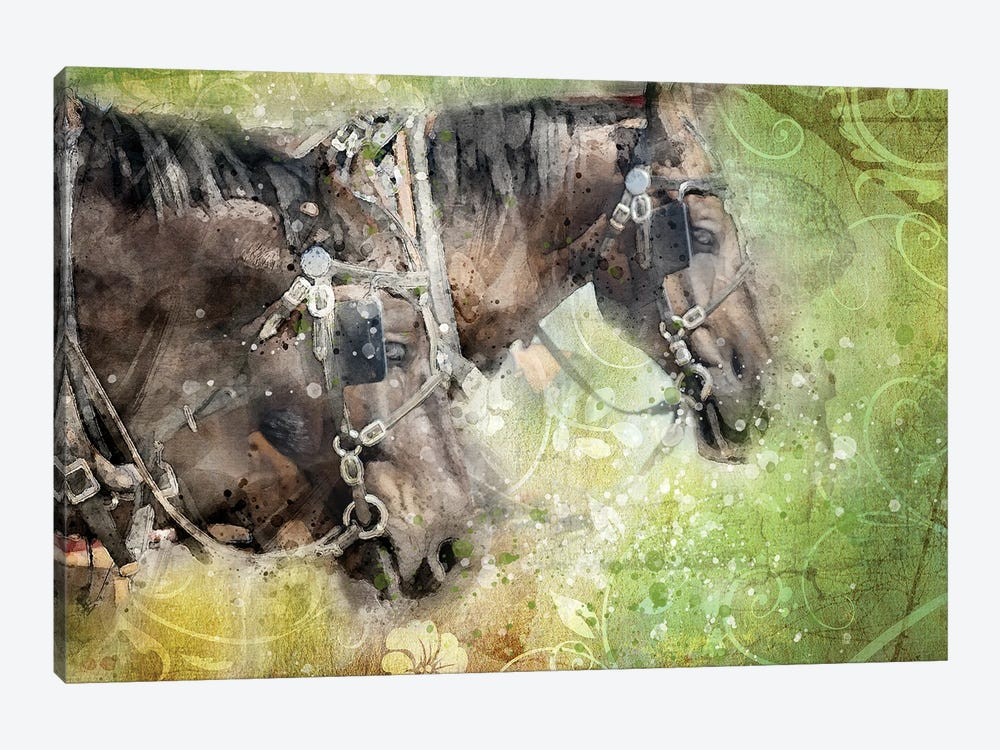Horses by Kevin Clifford 1-piece Canvas Art