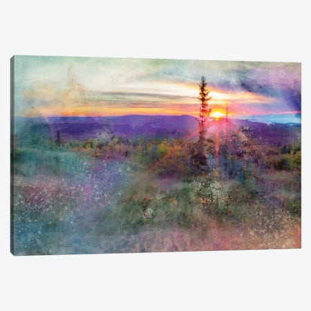 Brockway Mountain Sunset Canvas Print #KCF8} by Kevin Clifford Art Print
