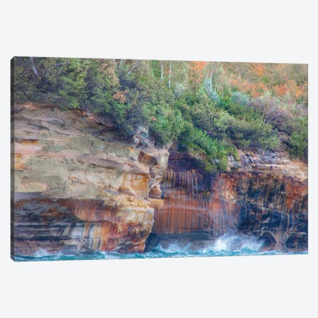 Splashy Cliffs Canvas Print #KCF95} by Kevin Clifford Canvas Artwork