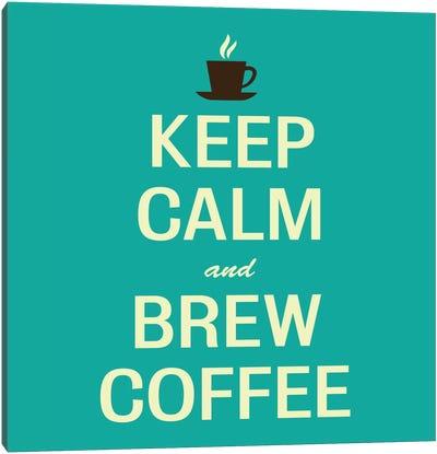 Keep Calm & Brew Coffee II Canvas Print #KCH10